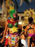 Dancing girls on the fiesta in Nicaragua Royalty Free Stock Image
