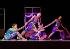 Dancing girls, Flip-Flap stock image