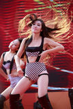 Dancing girls hot dance Stock Images