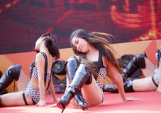 Dancing girls hot dance Stock Photo