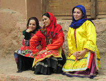 The dancing girls, Iran. Girls in a traditional bright dress, Iran Royalty Free Stock Image