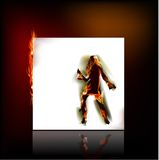 Dancing girls made of fire. Fire collection Royalty Free Stock Photography