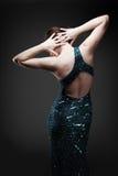 dancing glamorous woman στοκ φωτογραφία με δικαίωμα ελεύθερης χρήσης