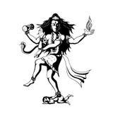 Dancing God Shiva Royalty Free Stock Images