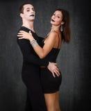 Dancing gotico delle coppie fotografia stock libera da diritti