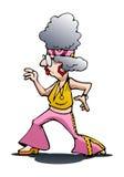 Dancing grandma female dancer Royalty Free Stock Images