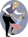 Dancing with grandpa Royalty Free Stock Photos