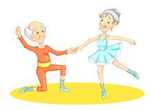 Dancing grandparent Royalty Free Stock Photography