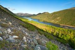The Dancing Grayling Lake. Autumn at Lake Dancing grayling Stock Image