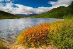 The Dancing Grayling Lake. Autumn at Lake Dancing grayling Stock Photography