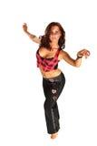 Dancing grazioso della donna Fotografie Stock
