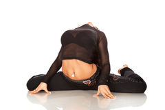 Dancing grazioso della donna Fotografia Stock Libera da Diritti