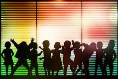 Dancing group. Happy together crowd Stock Images