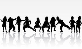 Dancing group Royalty Free Stock Images