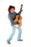 Dancing guitar Stock Images