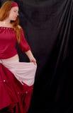 Dancing Gypsy. Partial Profile of Gypsy Dancing stock photo