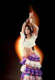 Dancing Gypsy girl Royalty Free Stock Photo