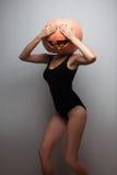 Dancing Halloween go-go dancer Royalty Free Stock Photography