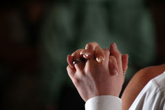 Dancing Hands. Classic couple dancing. Holding hands. Mother and son during the grooms wedding Stock Image