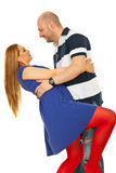Dancing happy couple Royalty Free Stock Photography