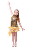 Dancing happy little girl Royalty Free Stock Photo