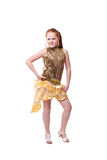 Dancing happy little girl Royalty Free Stock Images