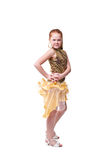 Dancing happy little girl Royalty Free Stock Image
