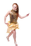 Dancing happy little girl Stock Photography