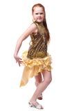 Dancing happy little girl Stock Photo
