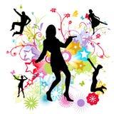 Dancing happy people Stock Photos