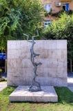 The dancing hares. Exhibition of modern sculptures. Big Cascade. Stock Photography
