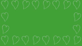 Dancing Hearts, green screen stock footage