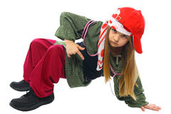 Dancing hip-hop della bambina Immagini Stock
