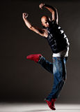 Dancing hip-hop man Royalty Free Stock Photo