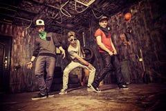 Dancing hip-hop Stock Image