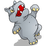 Dancing Hippo Stock Image