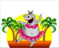Dancing hippopotamus Stock Image