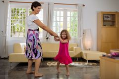 Dancing at home Stock Images