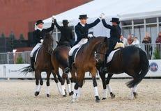 Dancing on horseback Royalty Free Stock Images
