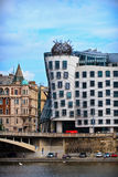 Dancing house. Modern architecture design. Prague, Chezh Royalty Free Stock Photos