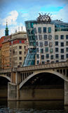 Dancing house. Modern architecture design. Prague, Chezh Stock Photos