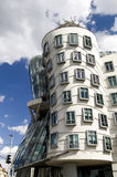 Dancing House. Modern building called the Dancing House (or Fred and Ginger) in Prague, Czech Republic Stock Image