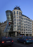 Dancing house building in downtown Prague Royalty Free Stock Images