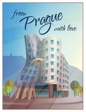 Dancing House Building Prague Poster Stock Photography