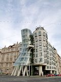 The Dancing House in the center of Prague Stock Photo