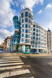 The Dancing House in the center of Prague. Royalty Free Stock Photography
