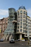 Dancing House Fred and Ginger Prague. Czech Republic, a non traditional designed building Stock Photography