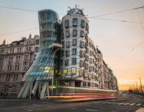Dancing House (Fred and Ginger) in Prague during the day Stock Photo