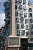 The Dancing House_frrom Jirasek Bridge Stock Images