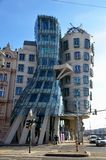 Dancing house, modern architecture in Prague Royalty Free Stock Photo